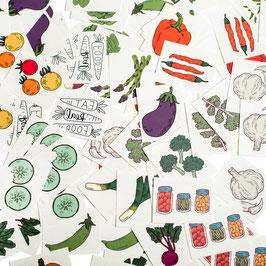 Gemüse-Tattoos