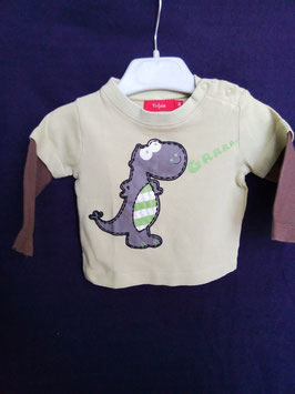 T-shirt 2 en 1 dinosaure 3 mois