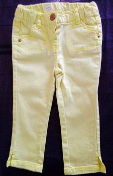 Pantacourt jean jaune 3 ans