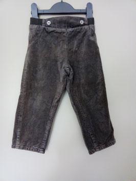 Pantalon en velours doublé 2 ans