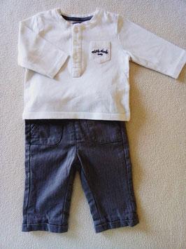 Pantalon+T-shirt  ML Kiabi 3 mois