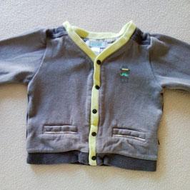 Gilet gris Obaïbi 3 mois