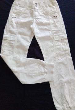Pantalon toile blanc