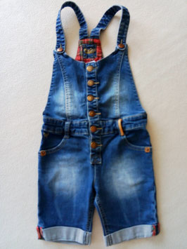 Salopette-short en jean 6 ans
