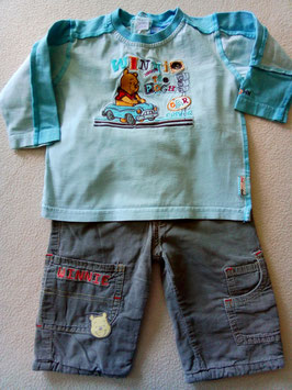 12 mois Pantalon velours et T-shirt manches longues 12 mois