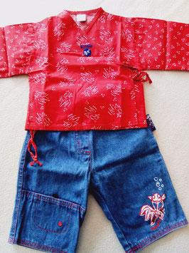 blouse et jean poisson asiatique