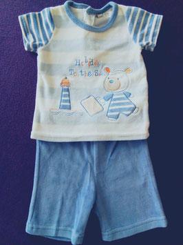 Short et t-shirt en velours 3mois