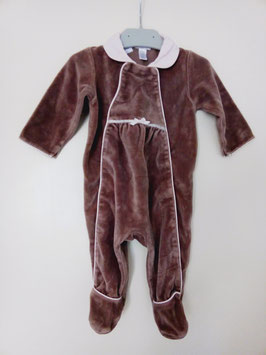 Pyjama velours Obaïbi 6 mois