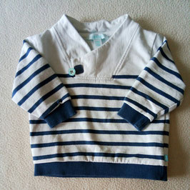 Sweat-shirt marin 6 mois Obaïbi