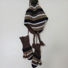 Bonnet et moufles assortis Obaïbi