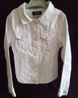 Veste en jean blanc 8 ans