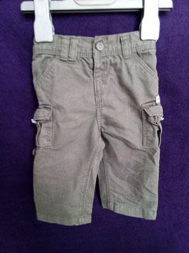 Pantalon retroussable gris