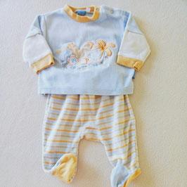 Pyjama en velours 2 pièces 3 mois