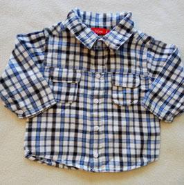 Chemise bûcheron bleue 6 mois