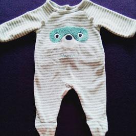 Pyjama en velours Obaïbi 3 mois