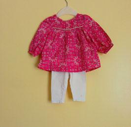 Leggin et blouse Obaïbi 6 mois