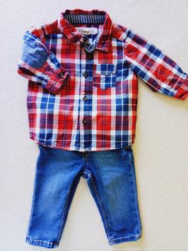 Jean et chemise 4/6 mois H&M