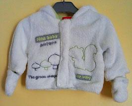 """Manteau """"peluche"""" à capuche 3 mois"""