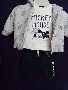 Ensemble 3 pièces Mickey 1 mois