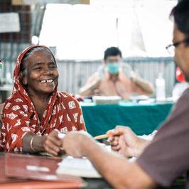 Steun de verzorging van een lepra patiënt voor 1 maand