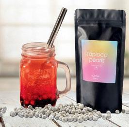 Schwarze Tapioka-Perlen für Bubble Tea Zubereitung 250gr.