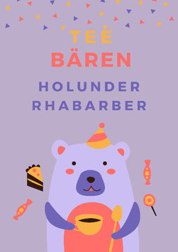 Tee-Bären Holunder/Rhabarber 100gr