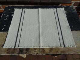 """Barrydale Hand Weavers Tischset """"Charcoal Stripe"""""""