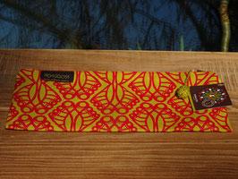 """Mongoose Long Zip Bag """"Jembe Red/Mustard"""""""