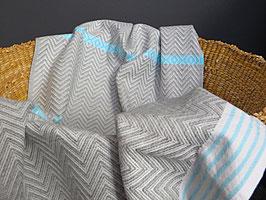 """Mungo Tawulo Towel Handtuch """"Aqua Blue"""""""