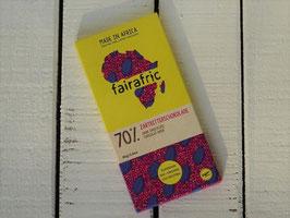 fairafric Bio Zartbitterschokolade 70 % , 80 g Tafel