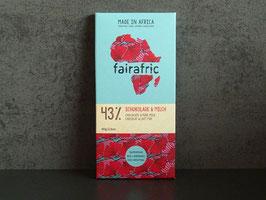 fairafric Bio Schokolade 43 % Kakao mit Milch 80 g Tafel