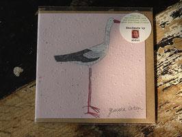 "Growing Paper Grußkarte ""Stork"" Gemma Orkin"