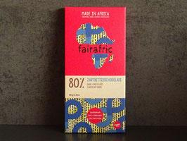 fairafric Bio Zartbitterschokolade 80 % , 80 g Tafel