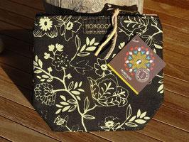 "Mongoose Purse Bag ""Wild Flower Natural/Black"""