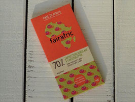 "fairafric Bio Zartbitterschokolade 70 % ""Kakaosplitter"" , 80 g Tafel"