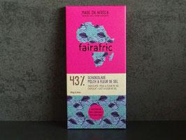 "fairafric Bio Schokolade 43 % Kakao ""Milch & Meersalz"" 80 g Tafel"