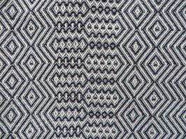 Mungo Bakuba Throw Queen Size Charcoal