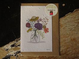 """Growing Paper Grußkarte """"Flowers"""" Paper Tales"""