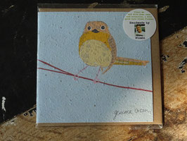 "Growing Paper Grußkarte ""Bird 4"" Gemma Orkin"