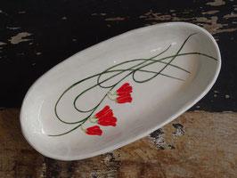 Gemma Orkin Ceramics Ovale Servierplatte Flower 2