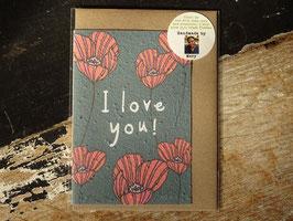 "Growing Paper Grußkarte ""I love you"" Paper Tales"