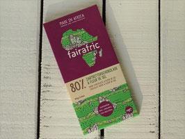 fairafric Bio Zartbitterschokolade & Fleur de Sel 80 % , 80 g Tafel