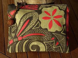"Mongoose Zip Bag ""Fossil Natural/Charcoal"""