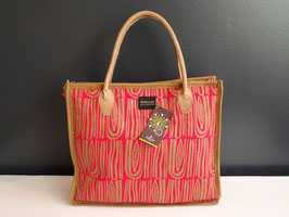 "Mongoose Shopper Bag ""Seed Ivory / Red"""
