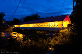 Ashuelot Covered Bridge Evening Glow