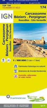 IGN 174 : Carcassonne, Béziers, Perpignan