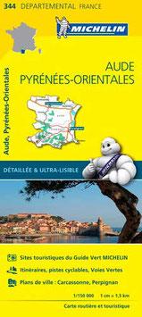 Michelin 344 : Aude, Pyrénées-Orientales