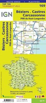 IGN 169 : Béziers, Castres, Carcassonne.