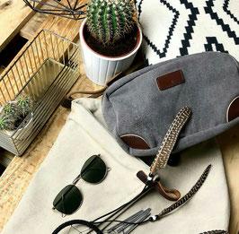 HAMBURG - Kulturtasche | schwarz, grau, braun