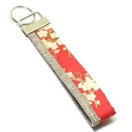 "Schlüsselanhänger ""Leinen"" Japanische Kirschblüte"